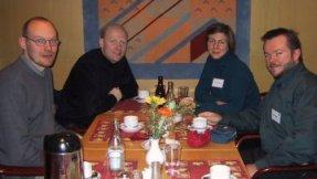 Foto på Lumanos utsända team som träffar informationsarkitekten Peter Morville