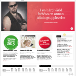 Skärmbild av Friskis&Svettis Södertäljes hemsida.